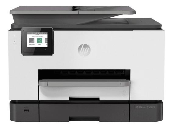 Impressora a cor multifuncional HP OfficeJet Pro 9020 com Wi-Fi 100V/240V branca e preta