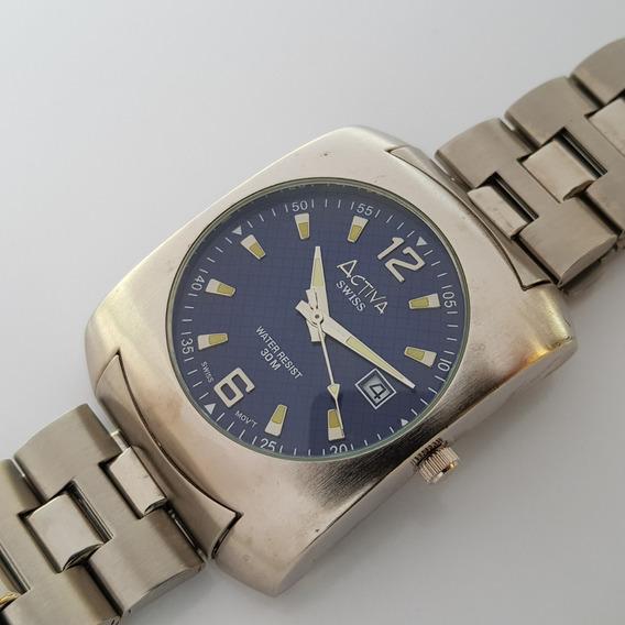 Relógio Activa Cuadro Swiss Movement Ronda Azul