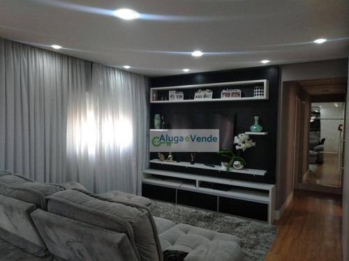 Apartamento Com 3 Dormitórios 1 Suíte À Venda No Condomínio Massimo, 95 M² Por R$ 680.000 - Centro - Guarulhos/sp - Ap0253