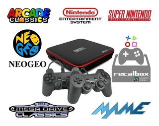 Consola Juegos Retro Y Tv Box 2 Joystick Recalbox Netflix