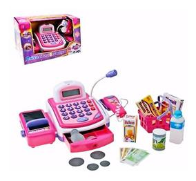 Caixa Registradora Infantil Com Som E Luz Mini-mercado