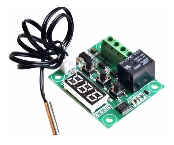 Controlador De Temperatura Termostato Digital Com Rele W1209