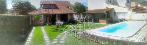 Casa Com 3 Dormitórios À Venda, 200 M² Por R$ 640.000,00 - Serra Grande - Niterói/rj - Ca1481