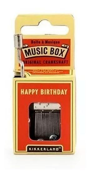 Caja Musical Melodia Happy Birthday Kikkerland
