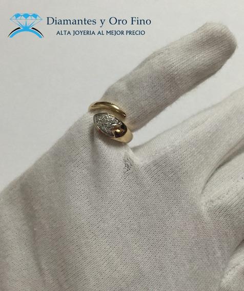Anillo Forma De Serpiente Con .23 Ct En Diamantes Naturales