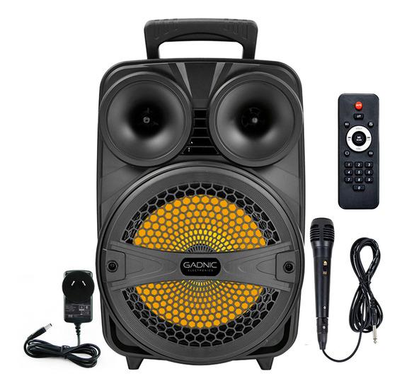 Parlante Bluetooth Karaoke Gadnic Mic Led Usb Portable Mp3