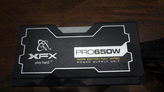 Fonte Atx Xfx 650w Pro Core Edition 80 Plus 100% Funcionando