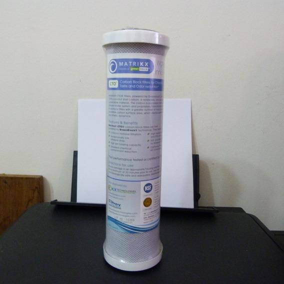 Filtro Agua De Carbón Activo Matrikx Cto Cloro Purificador