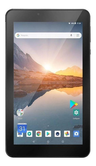 "Tablet Multilaser M7S Plus 7"" 16GB preto com memória RAM 1GB"