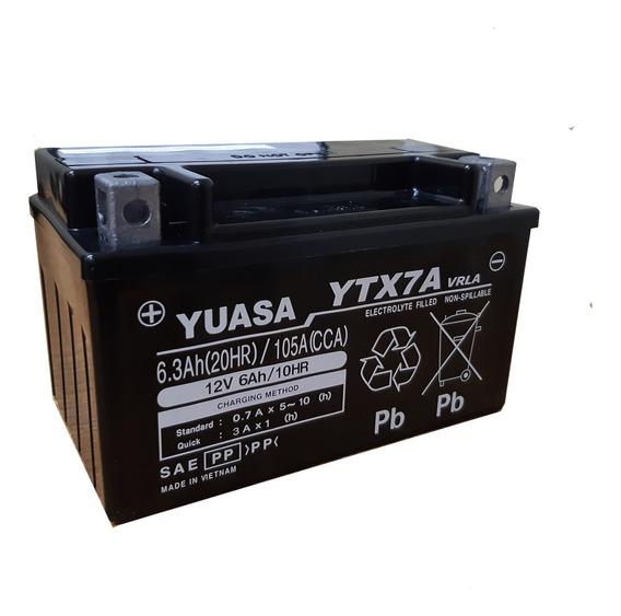 Batería Moto Yuasa Ytx7a-bs Aprilia Svx450 10/20