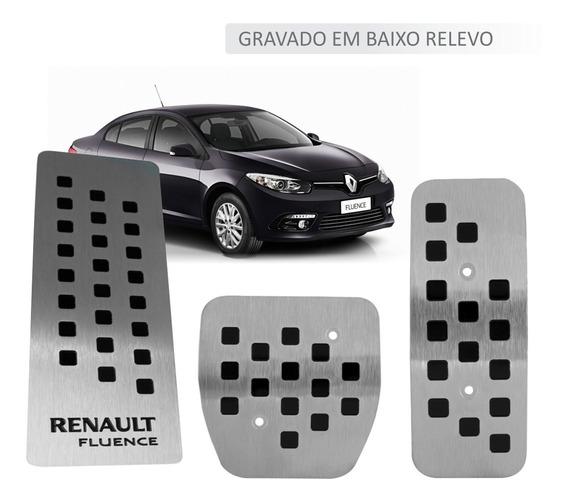Pedaleira + Descanso Pé Aço Inox Premium Renault Fluence