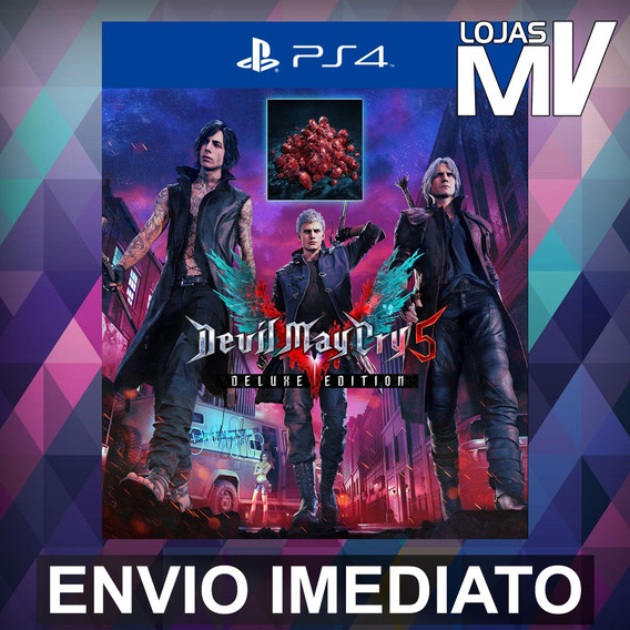 Devil May Cry 5 Deluxe C/ Red Orbs - Ps4 Código 12 Dígitos