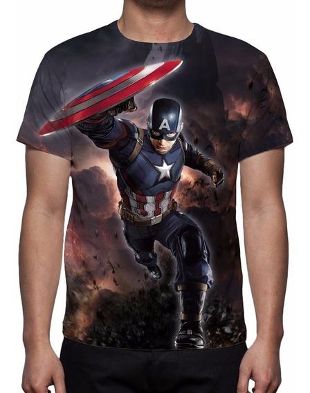 Camisa, Camiseta Guerra Civil - Capitão América