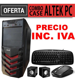 Case Pc Altek Teclado Mouse Parlantes Fuente Combo Inc Iva