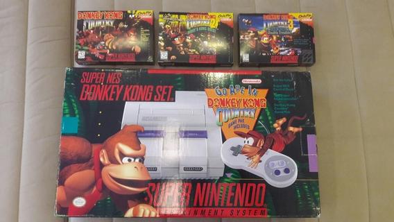 Super Nintendo Donkey Kong Especial Original Na Caixa + 3 Dk