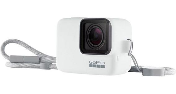 Capa Silicone+cordão Gopro Sleeve Branco Acsst-002 Hero 5-7