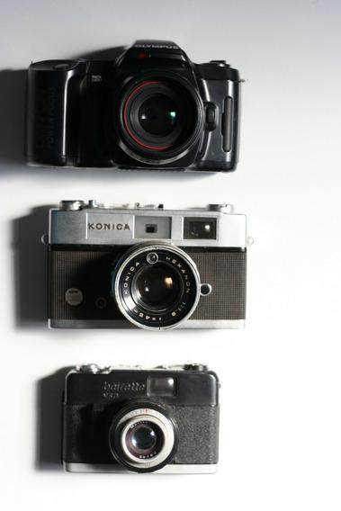 03 Câmeras Analógicas Para Decoração/coleção. No Estado.