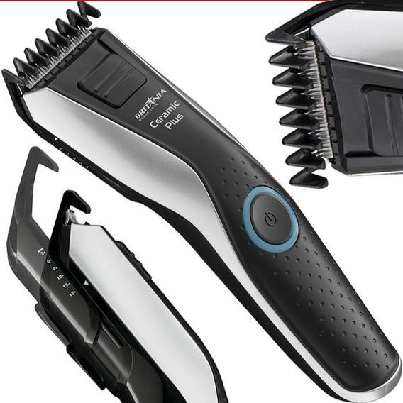 Máquina Cortar Cabelo Barba Britania Sem Fio 6 Níveis Bivolt