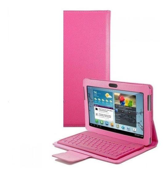 Teclado Capa Case Samsung Galaxy Tab 2 10.1gt-p7500 Rosa
