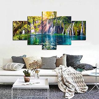 Pinturas En Cascada Lienzo Arte De La Pared Para La Sala De