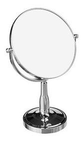 Espelho Maquiagem Beleza Mesa Pedestal Redondo Dupla Face