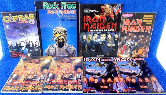 Revista 8 Revistas Heavy Metal, Biographic Arte, Rock Free..