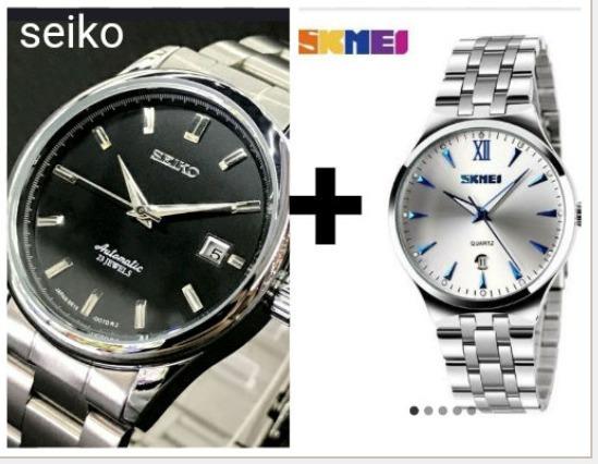 Relógio Seiko + Skmei