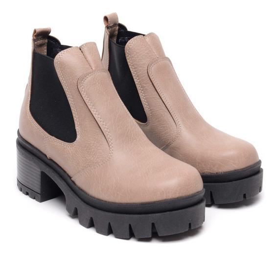 Zapatos Mujer Bota Botineta Plataforma Taco Palo 2019 Heben