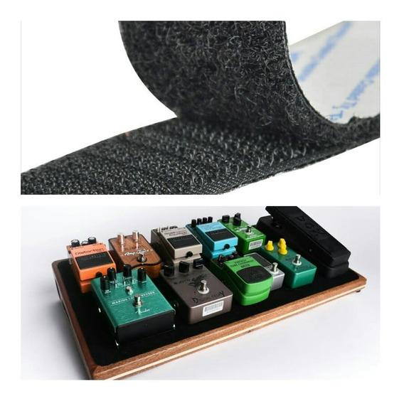 Fixador Para Pedais Pedaleira Velcro Adesivo Kit Macho Femea