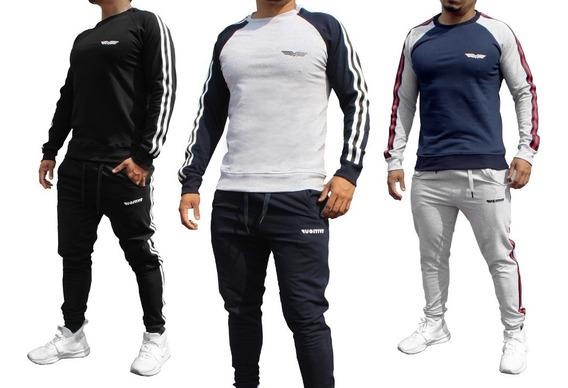 Conjunto Deportivo Pants Y Sudadera Hombre Fugitive Trend