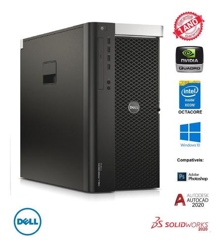Dell Precision T7610  Intel Octacore Ssd 240gb Nvidia Quadro