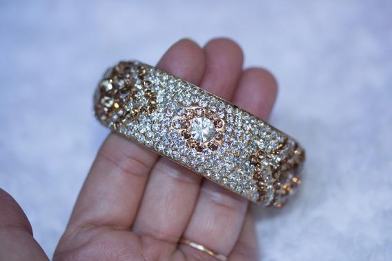 Bracelete Indiano Artesanal Com Cristais