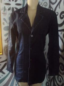 Lindo Casaco Longo Jeans Com Elastano Marca Bivik Com Botões