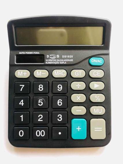Calculadora Mesa 12 Dígitos Solar/pilha Ds1920