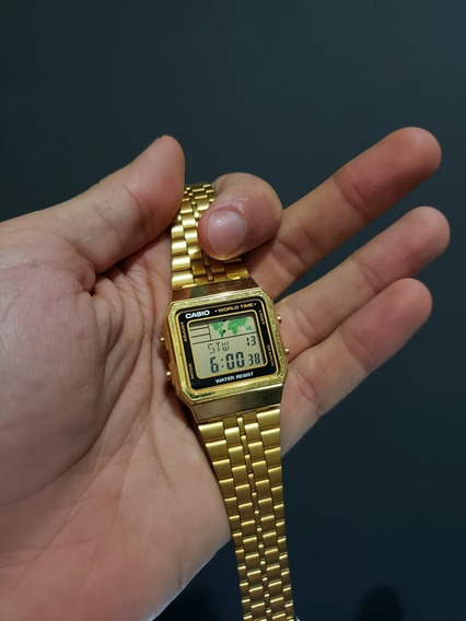 Relógio Casio Vintage Mapa Mundi A500wga-1df