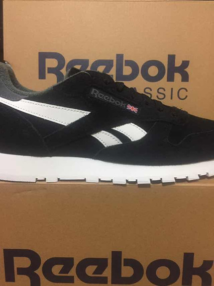 Tênis Reebok Classic Cl Leather Mu Original Pto/bco 39 A 44
