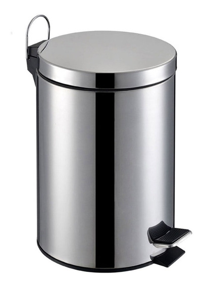 Lixeira De Aço Inox Redonda 12 Litros Tssaper
