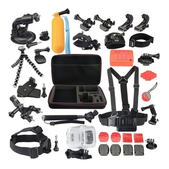 Kit De Acessórios 50 Em 1 P/ Camera Gopro Hero E Mas Cameras