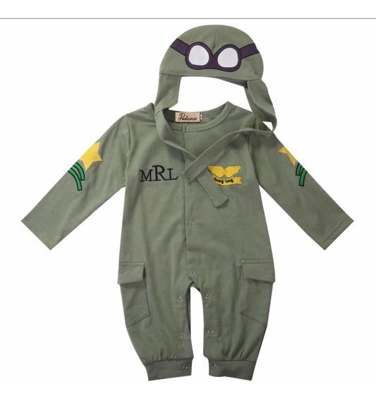 Mameluco Bebe Aviador Pijama/disfraz ( 6-24 Meses )