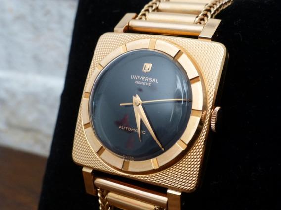 Relógio Universal Geneve, Pulseira E Caixa Em Ouro