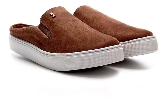 Slip On Santa Lolla Mule Na Cor Suede Baked - 01ac