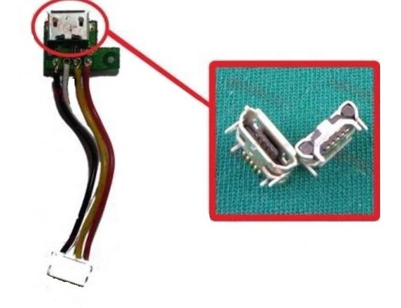 Conector De Carga Micro Usb 5 Pinos Caixa Som Jbl Flip 2