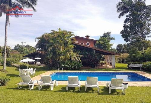 Chácara Com 5 Dormitórios À Venda, 4550 M² Por R$ 1.500.000,00 - Usina - Atibaia/sp - Ch0210