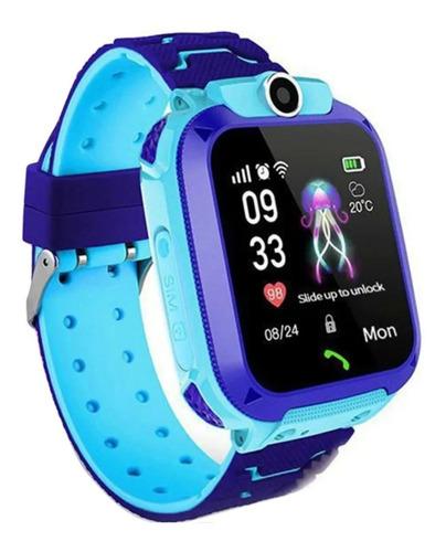 Imagen 1 de 6 de Reloj Inteligente Niños Q12 Chip Gps Android Ios // Celeste