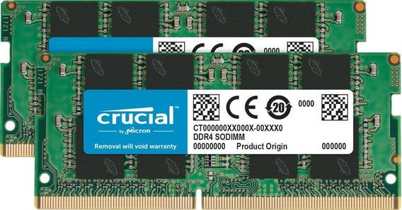 Memoria Ram 32gb Crucial Kit (16gbx2) Ddr4 2666 Mt/s (pc4-21300) Dr X8 Sodimm 260-pin - Ct2k16g4sfd8266