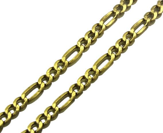 Corrente Colar Masculino Elo Gourmet 3x1 Ouro Amarelo J22022