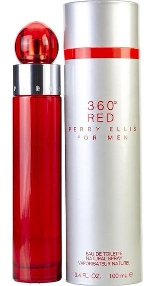 360° Red De Perry Ellis Eau De Toilette 100 Ml.