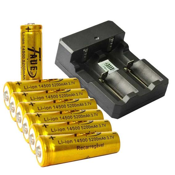 Carregador Duplo P/ Bateria14500/bateria Recar14500unidade