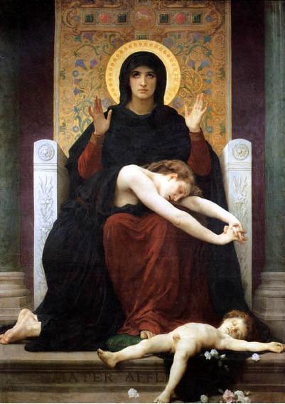 A Virgem Da Consolação Mortos Reprodução Bouguereau Na Tela