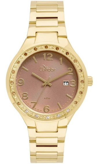 Kit Relógio Condor Feminino Dourado 18k Co2115up/4f - Nf